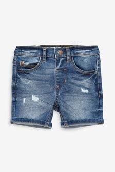 復古單寧短褲 (3個月至7歲)