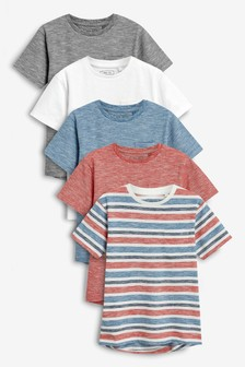 Stripe T-Shirts Five Pack (3-16yrs)