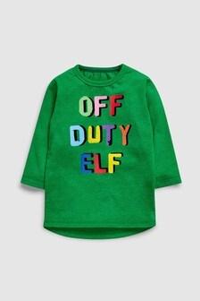 T-Shirt mit Off Duty Elf-Motiv (3Monate bis 6Jahre)