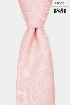 Moss 1851 Coral Paisley Tie