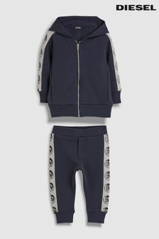 Diesel® Kids Navy Tape Side Logo Tracksuit