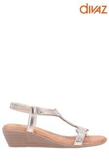 Divaz Pink Sasha Slip-On Sandals