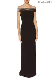 Gina Bacconi Black Zarina Maxi Dress
