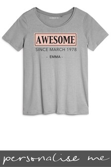 Personalised Awesome Printed T-Shirt