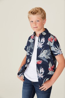 Short Sleeve Floral Shirt (3-16yrs)