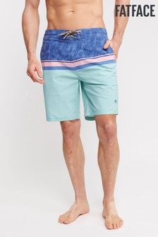 FatFace Blue Camber Colourblock Swimmers