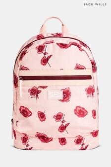 Jack Wills Pink Floral Heverhill Backpack
