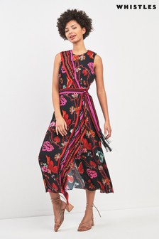 Whistles Scarf Print Wrap Dress