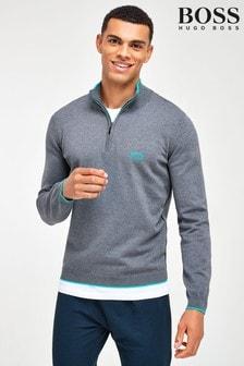BOSS Ziston ¼ Zip Knit Top