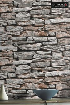 Arthouse Moroccan Brick Wall Wallpaper