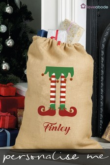 Personalised Hessian Santa Sack by Loveabode