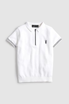 Zip Neck Knitted Polo (3-16yrs)