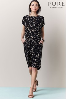 Pure Collection Silk Front Dress