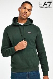 EA7 Green Logo Hoody