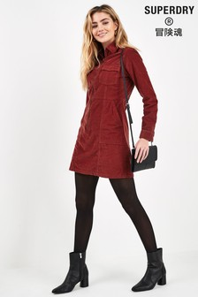 Superdry Red Cord Shirt Dress