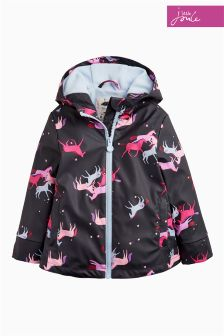 Joules Navy Unicorn Raindance Waterproof Rubber Coat