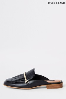 River Island Black Strapless Flat Loafer