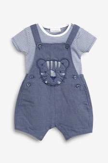 Baby The Cheapest Price Next Baby Boy Girl Denim Look Dungarees With Stars