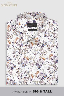 Signature Regular Fit Single Cuff Printed Shirt