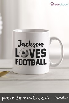 Personalised Football Mug by Loveabode