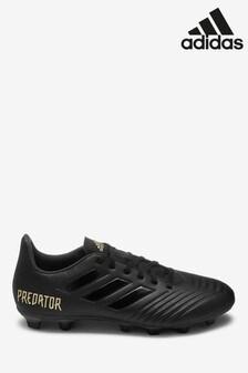 adidas Black Dark Script Predator Firm Ground Football Boots