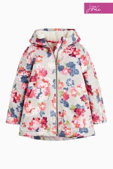 Joules Grey Raindrop Waterproof Coat