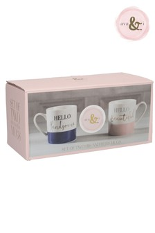 Set of 2 Ava & I His And Hers Mugs