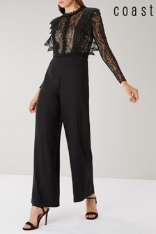 Coast Black Evie Lace Bodice Jumpsuit