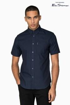 Ben Sherman® Navy Short Sleeve Oxford Shirt