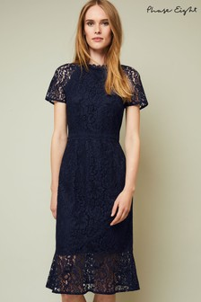 Phase Eight Navy Mabel Lace Dress