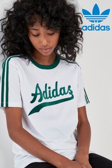 adidas Originals White Logo Tee