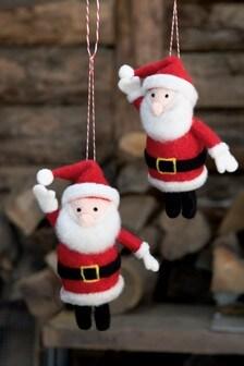 Set of 2 Santa Baubles