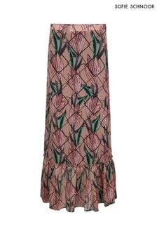 Sofie Schnoor Nude Floral Print Skirt Coord