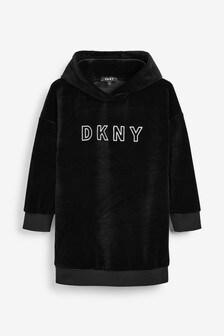 DKNY Black Velvet Dress