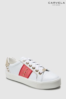 Carvela White Lexicon Lace-Up Trainer