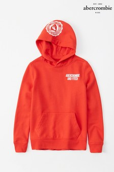Abercrombie & Fitch Red Exploded Hoody