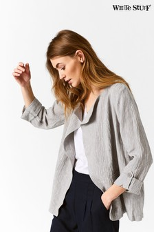 White Stuff Natural Crinkle Linen Jacket