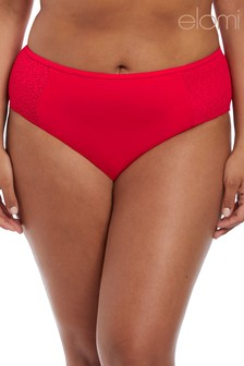Elomi Indie Red Mid Rise Brief
