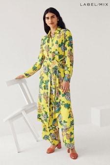 Mix/Kitri Studio Floral Print Wide Leg Trouser