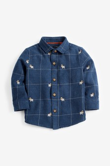 Long Sleeve Embroidery Detail Shirt (3mths-7yrs)
