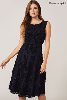 Phase Eight Blue Penelope Tapework Lace Fit And Flare Dress