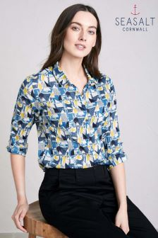 Seasalt Blue Cut About Boat Pebble Larissa Shirt
