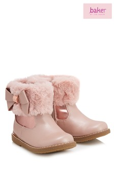 baker by Ted Baker Pink Faux Fur Cuff Boot