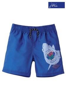 Joules Blue Oceanside Placement Print Swim Shorts