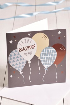 Large Balloon Birthday Card