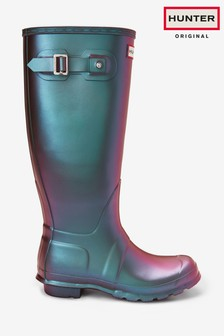 Hunter Womens Purple Original Tall Nebula Wellies