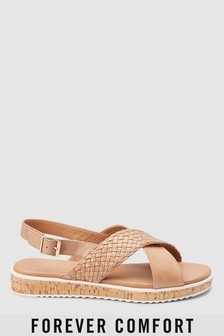 Leather Cork Wedges
