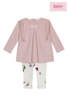 baker by Ted Baker Floral Toddler Girls Top And Legging Set