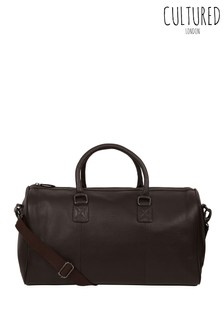 Cultured London Club Leather Holdall