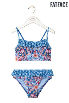 FatFace Blue Rainforest Floral Bikini